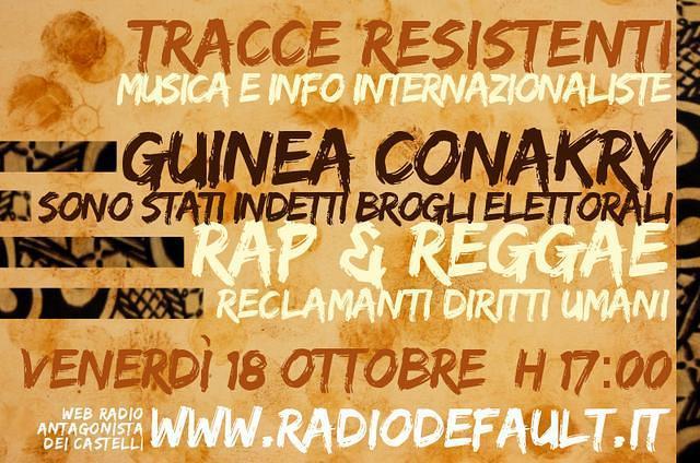 tracce resistenti numero 8 su radio default, speciale elezioni guineaa conakry